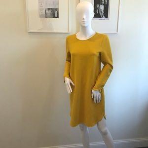 Zara Women's Mustard Yellow Dress Medium
